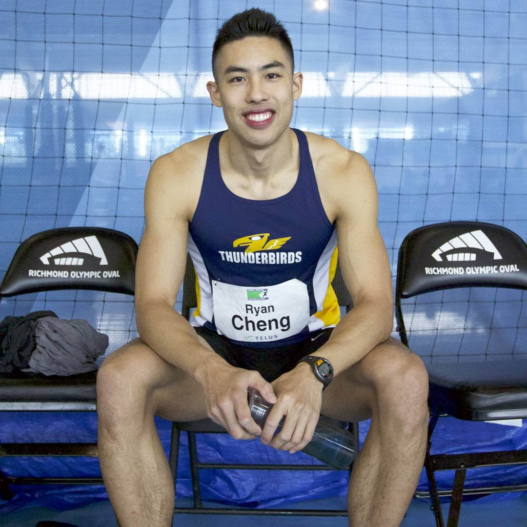 Ryan Cheng at last years 2017 Indoor Harry Jerome, Richmond, BC.