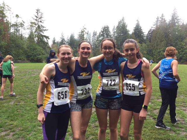 Thunderbird athletes Alexandra, Ella, McKenna, and Maya.