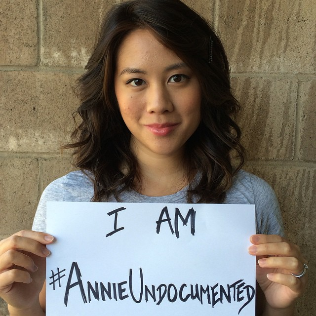 """Until a few months ago, exactly 11 people knew about my past as an undocumented teen. Since the show came out, the number of people who've told me that they used to be undocumented as well is crazy astounding. I'm beginning to realize what an important story - an American story - this is to tell."" - Elaine Low, #AnnieUndocumented writer. #NYTVF #DREAMer #immigration"