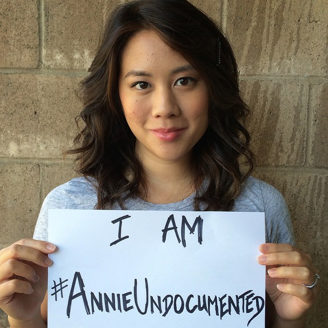 """Until a few months ago, exactly 11 people knew about my past as an undocumented teen. Since the show came out, the number of people who've told me that they used to be undocumented as well is crazy astounding. I'm beginning to realize what an important story - an American story - this is to tell."" - Elaine Low, #AnnieUndocumented writer."