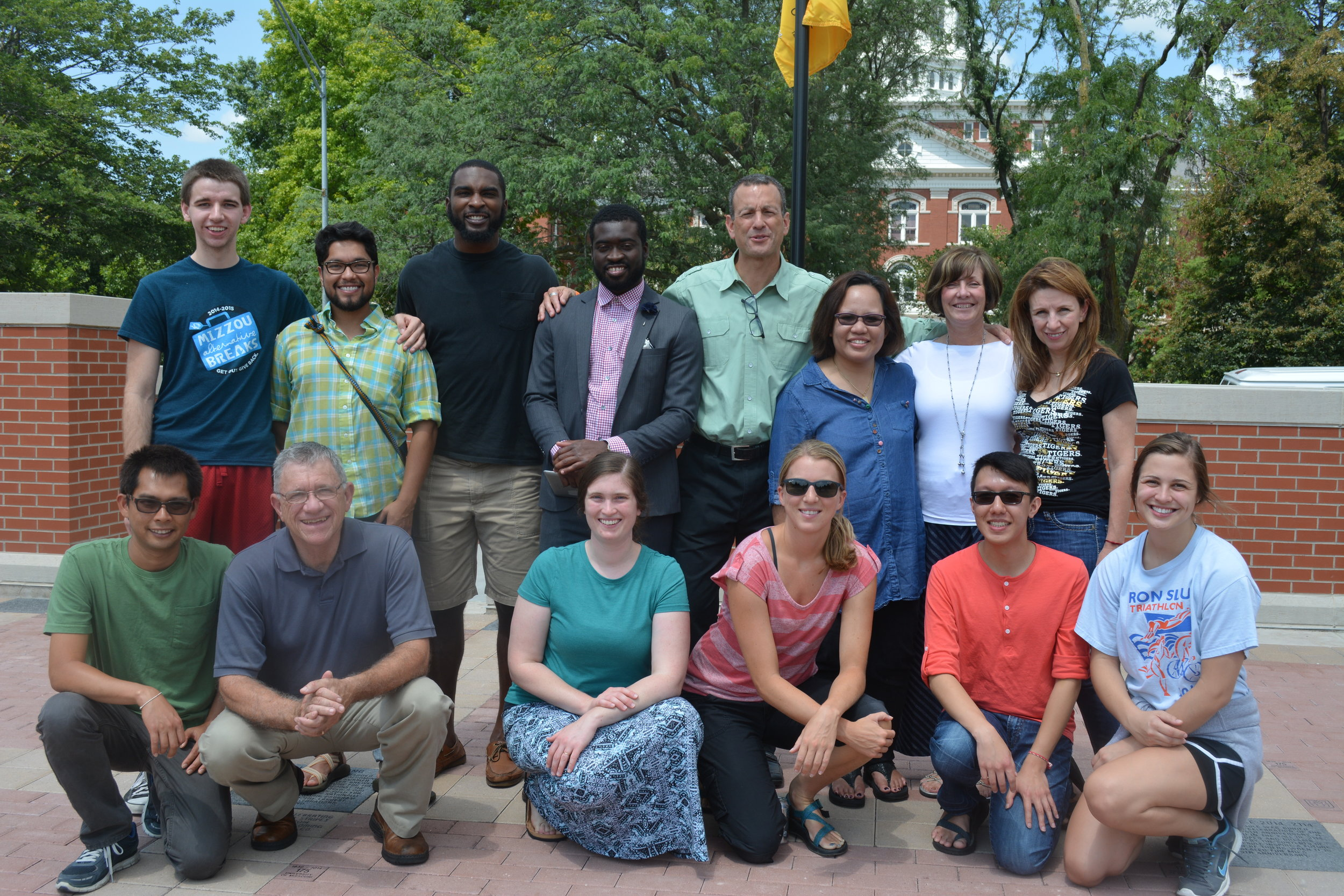 Group photo of workshop participants at the University of Missouri (faculty, staff, students).
