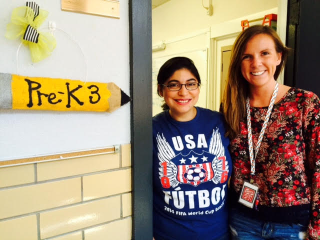Pre-K 3 teachers Ms. Samantha Rogers and Ms. Maggie Sather
