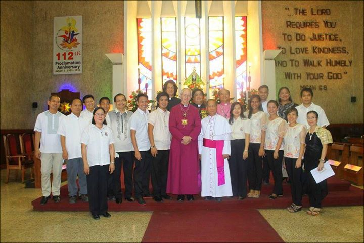 The historic visit of The Archbishop of Canterbury to the Iglesia Filipina Independiente.                        8th of August 2014 at the IFI National Cathedral, Manila.