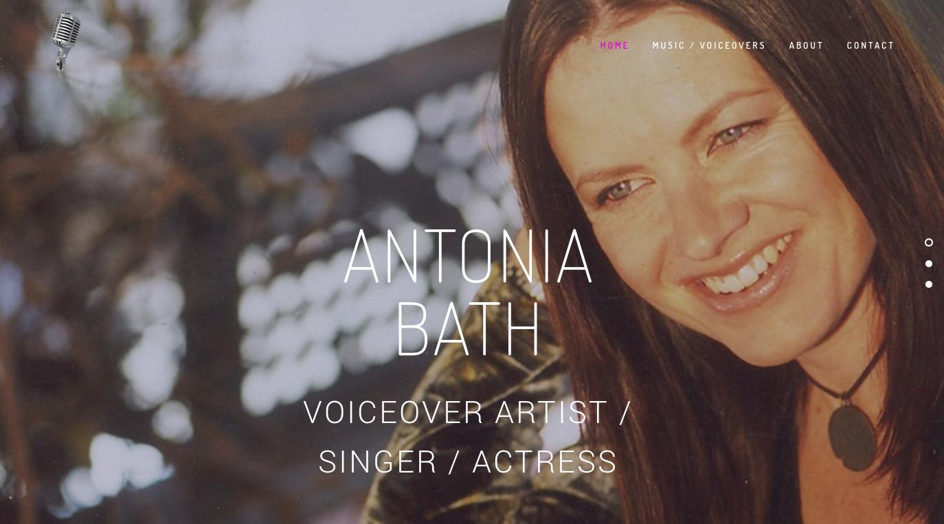 Copy of Copy of Antonia Bath / Voiceover