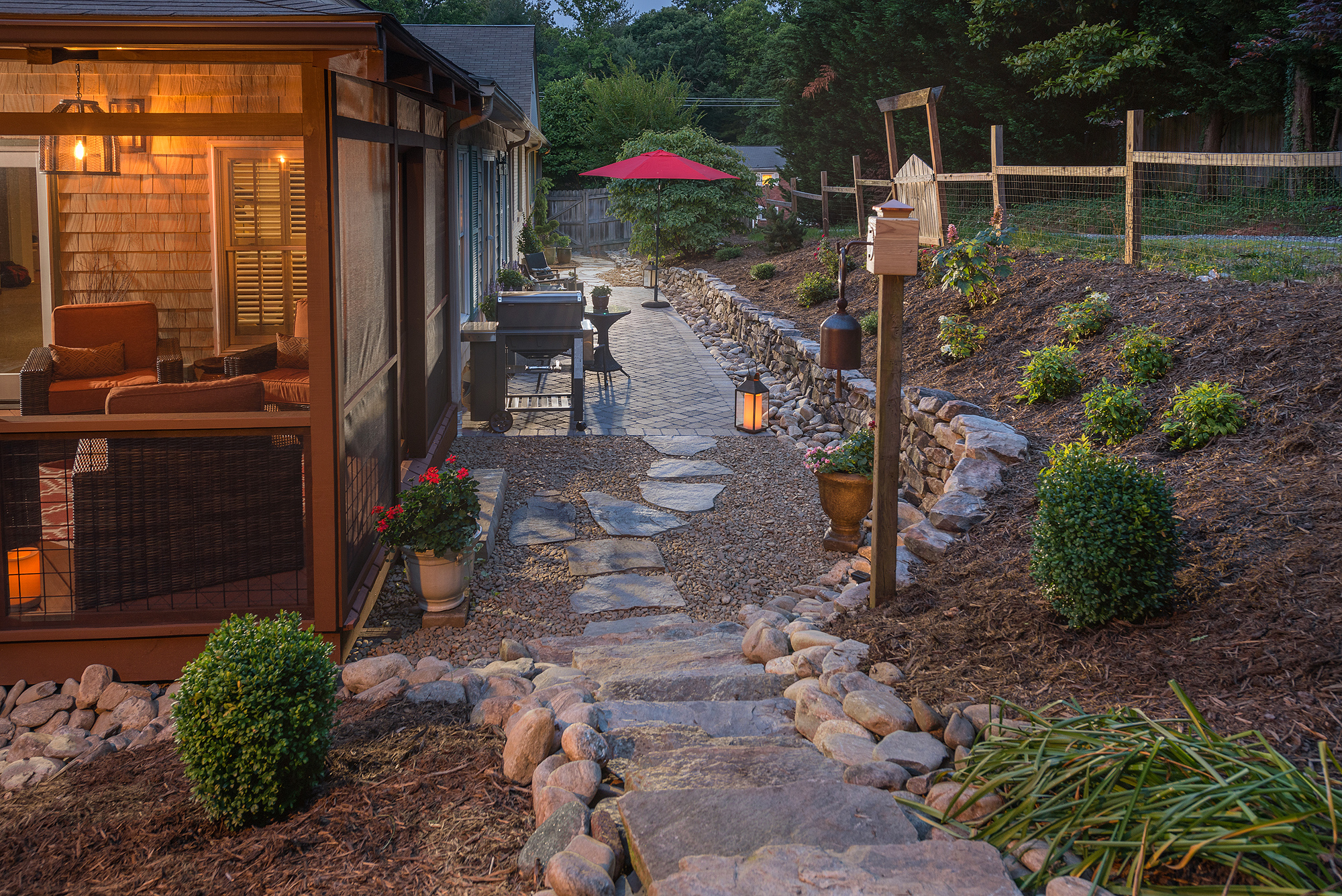 LANDSCAPING - We are Asheville landscapers that transform your outdoor spaces with custom installations of regionally appropriate plant and rock life that are less