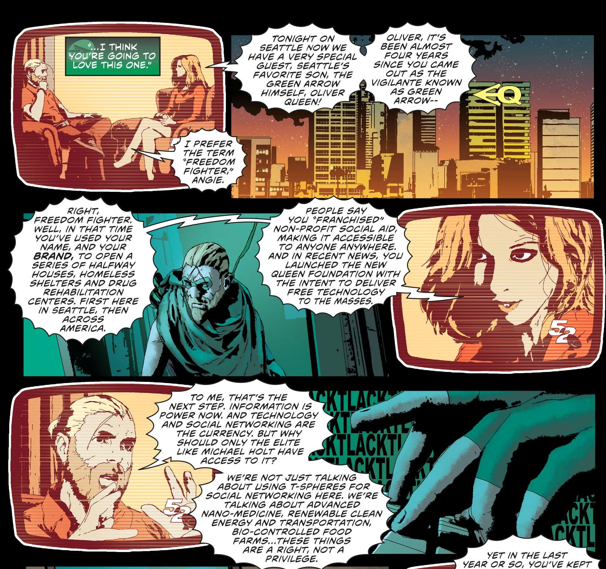 Green Arrow: Futures End by Jeff Lemire and Andrea Sorrentino (DC, 2014)