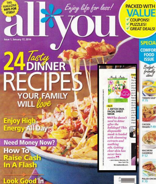 Copy of All You Magazine - January 2014 MaskerAide Detox Diva