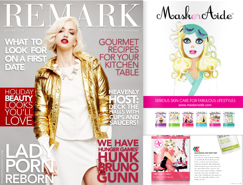 Copy of REMARK Magazine - Nov/Dec 2013 MaskerAide Sheet Masks
