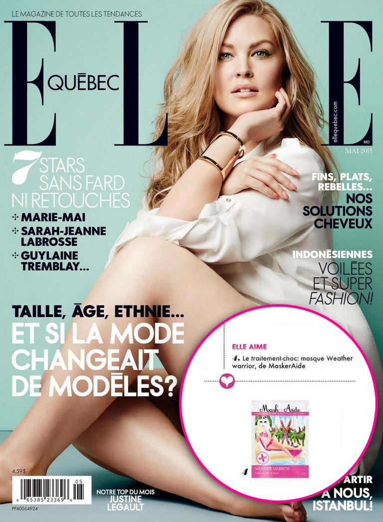 Copy of ELLE Quebec - May 2013 MaskerAide