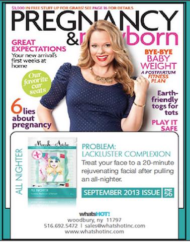 Copy of Pregnancy & Newborn Magazine - September 2013 MaskerAide All Nighter Sheet Mask