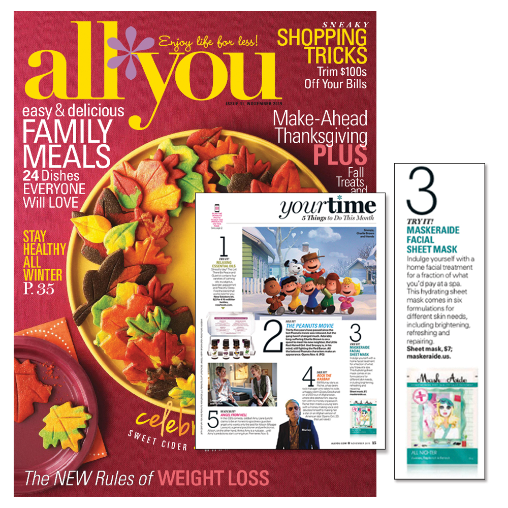 """Copy of ALL YOU Magazine - November 2015 """"5 Things To Do This Month"""""""