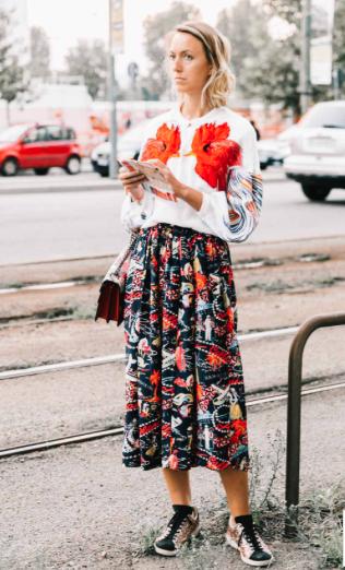 Print & bordados - Vogue - http://www.vogue.es/moda/streetstyle/galerias/street-style-milan-fashion-week-dia-4-missoni-jil-sander-blumarine/13883/image/1302106