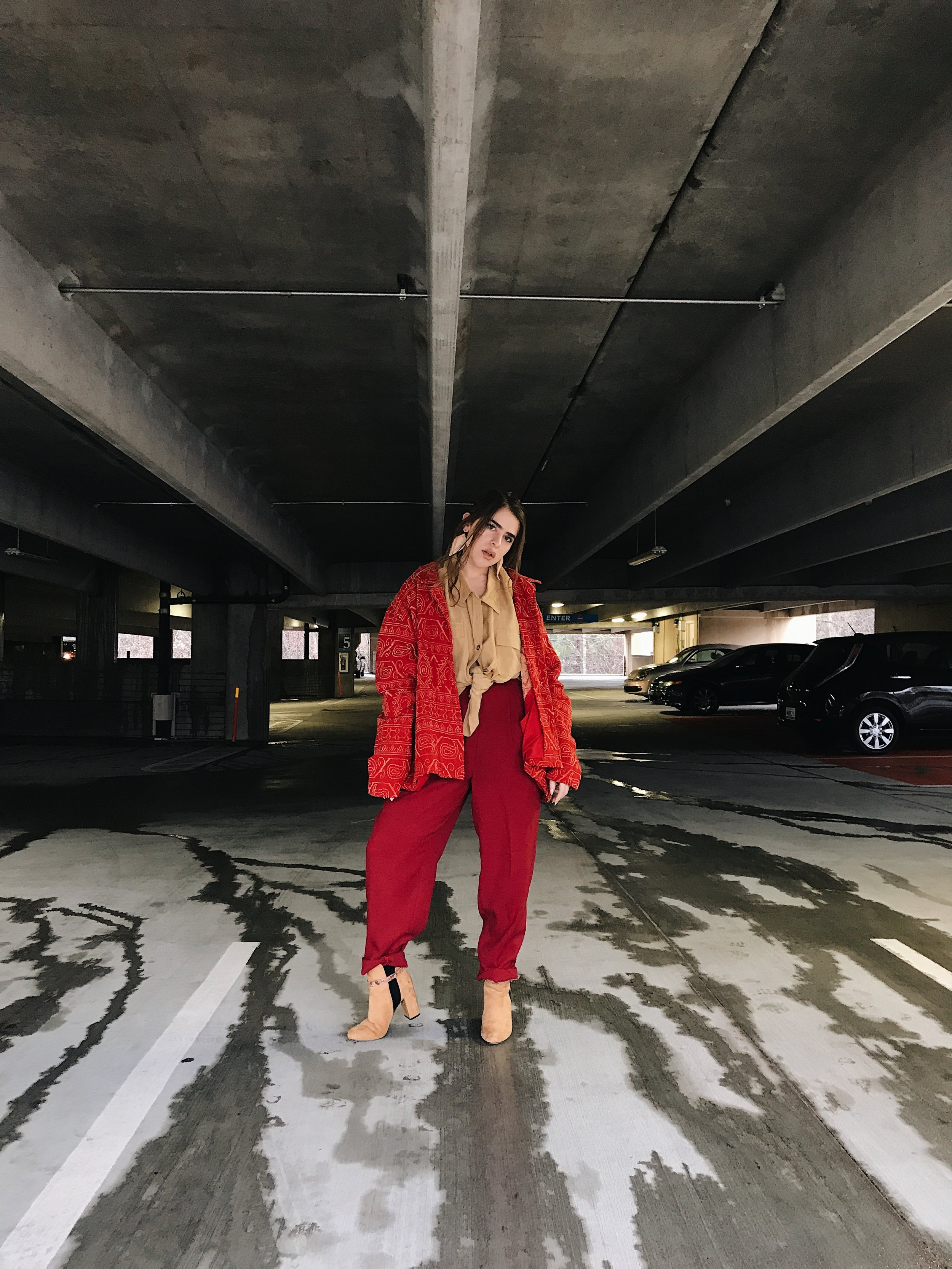 Red on red