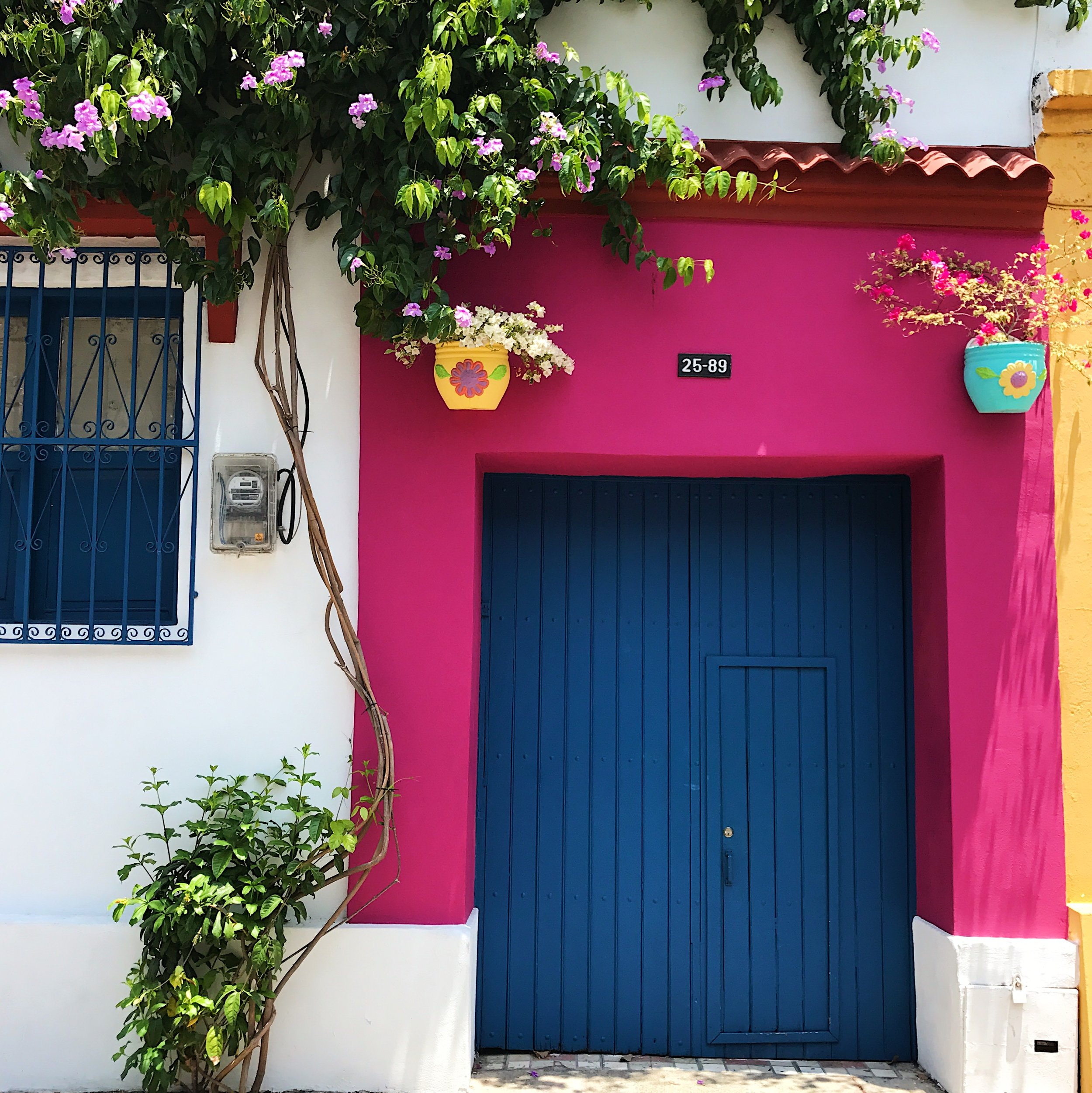 Yes, every corner of Cartagena is this colorful.