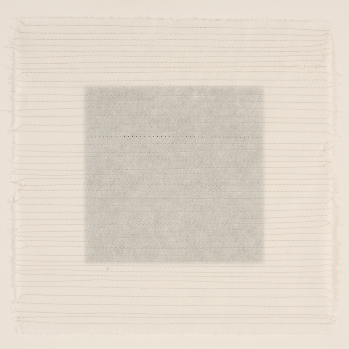 Stitched #4 - rice paper grid