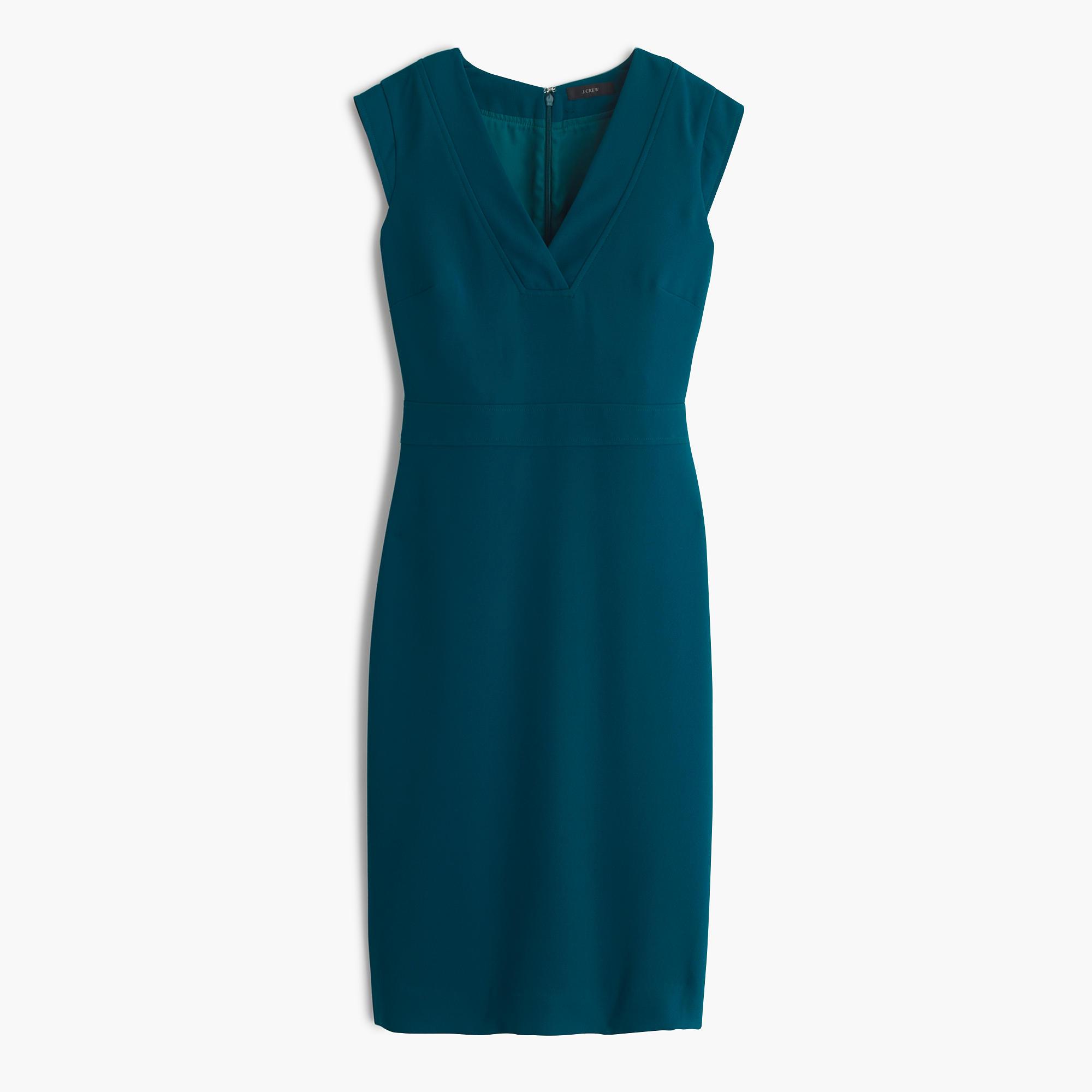 Drapey V-neck sheath dress.jpeg