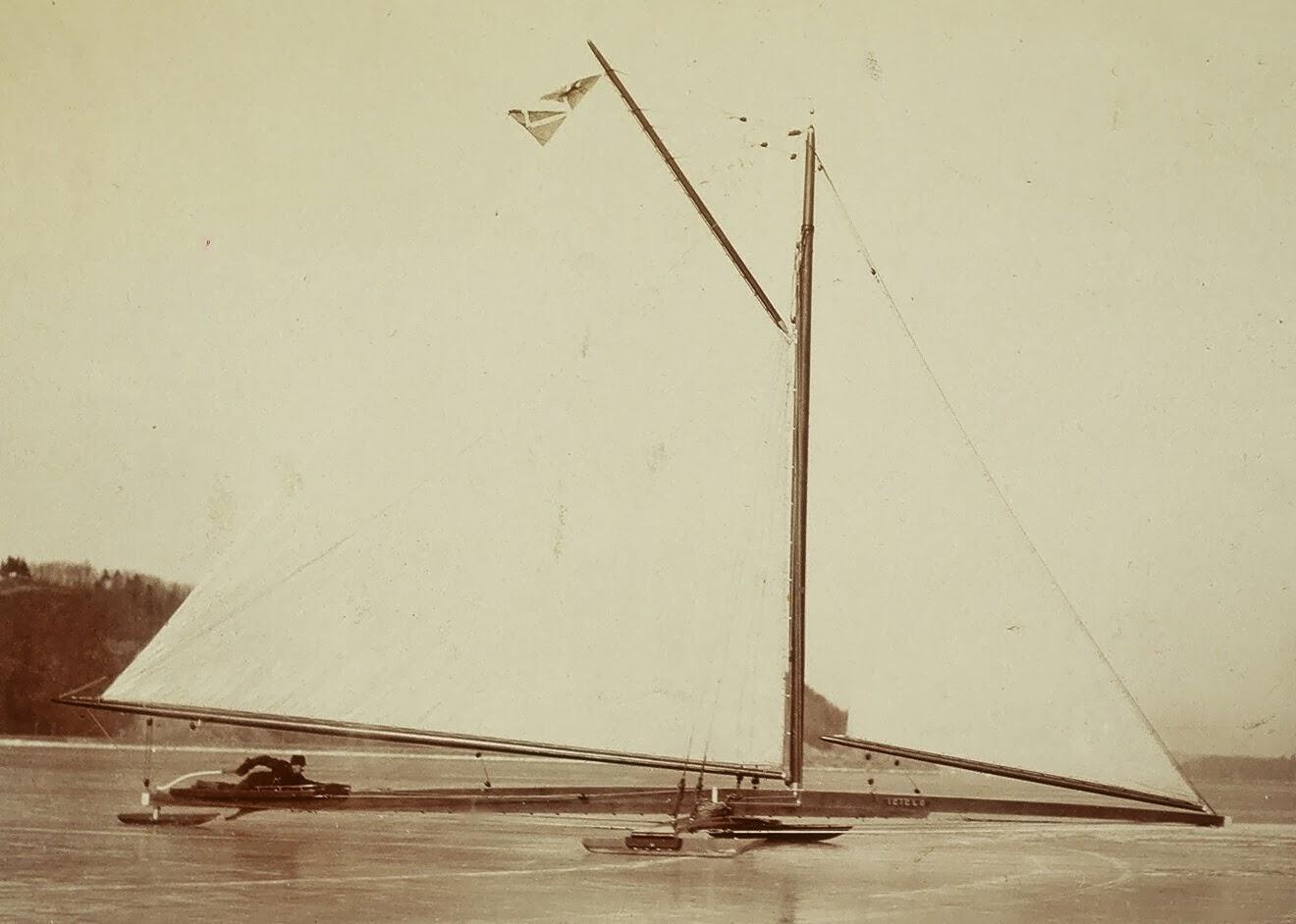 John A. Roosevelt, rorsman på 'stern steerern'  Icicle  år 1885