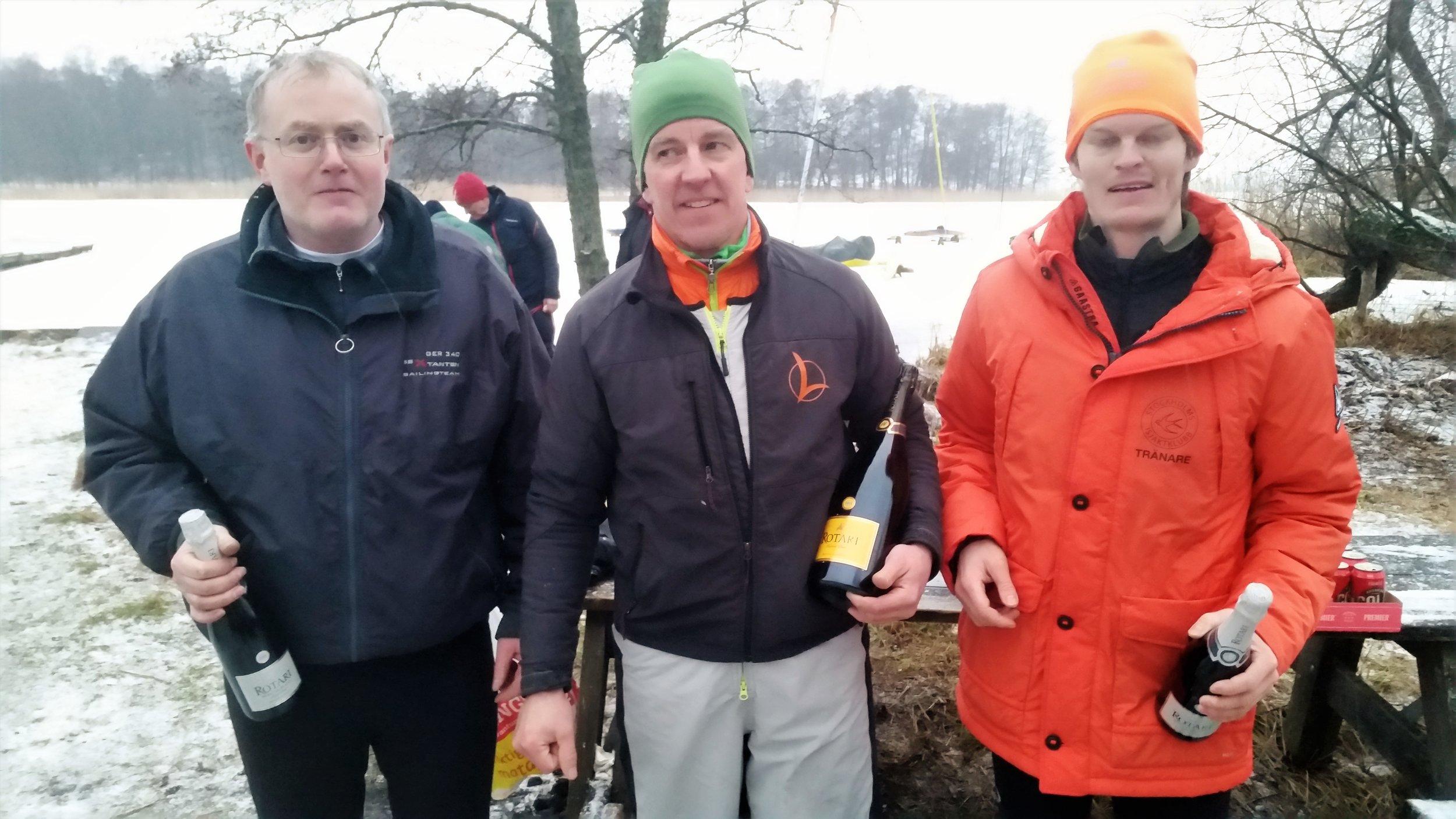 R8 DN fr v 3:a Thomas Ebler, 1:a Fredrik Lönegren och 2:a Oscar Wersäll