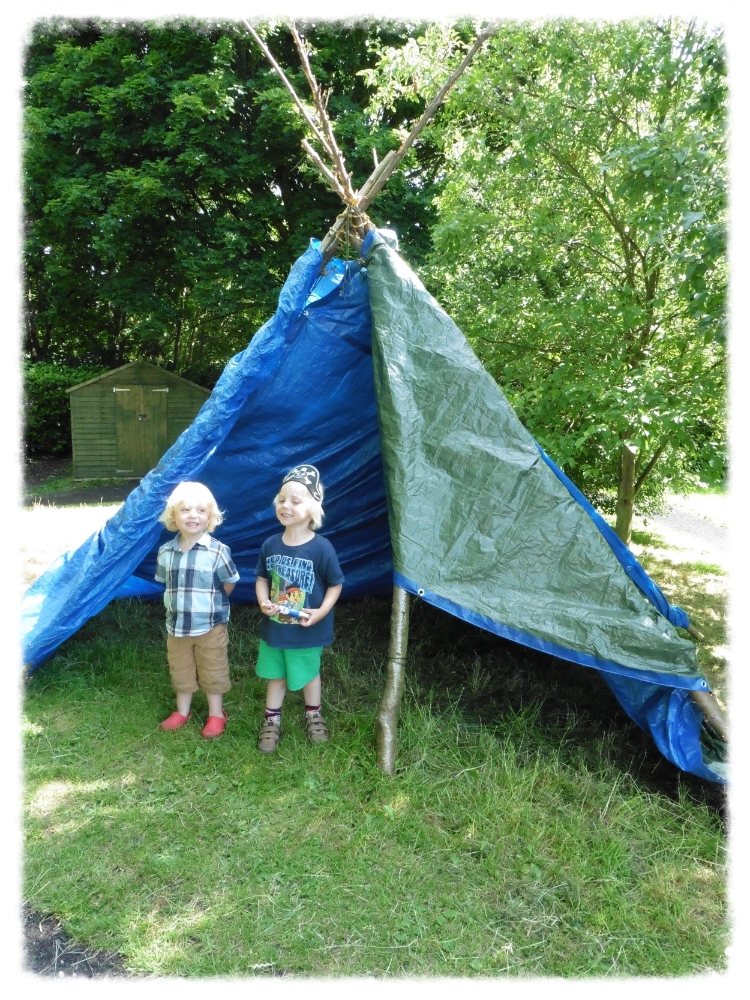 DEVELOP:We can extend your outdoor area and build permanent features for future play such as this outdoor shelter