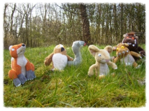 LITERACY - Gruffalo, stick man, Percy the Park Keeper. Sessions based on stories so children live the story.