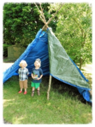 Free Tepee provided for a long term partner school.