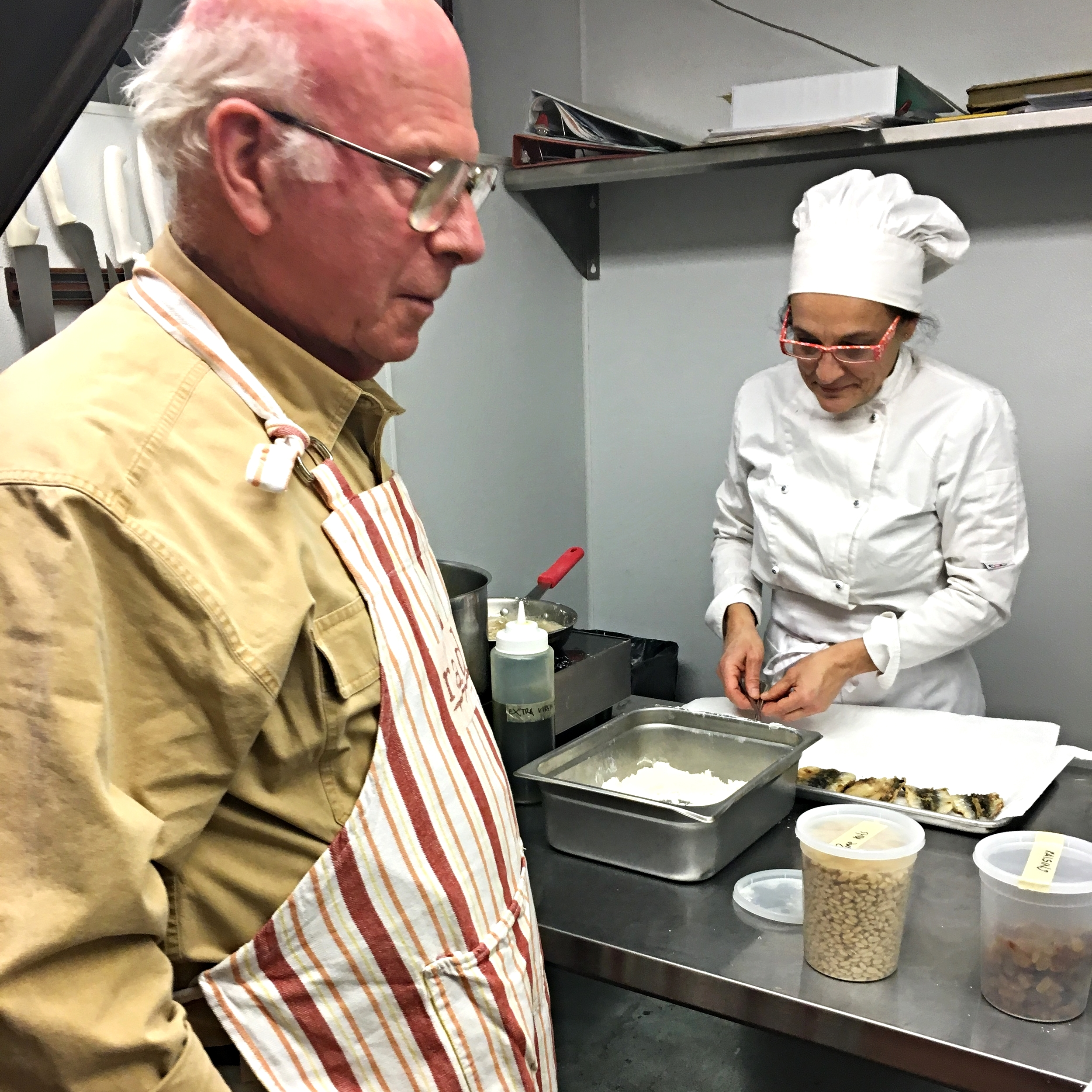 John and our chef Valeria at the first Cooking Class!