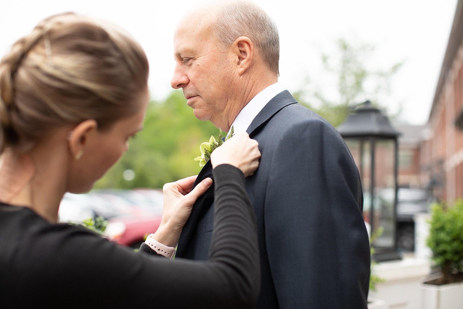 People always ask me for tips on being a wedding photographer. Pro Tip #1: To be a wedding photographer it definitely helps to know how to pin a boutonnière.