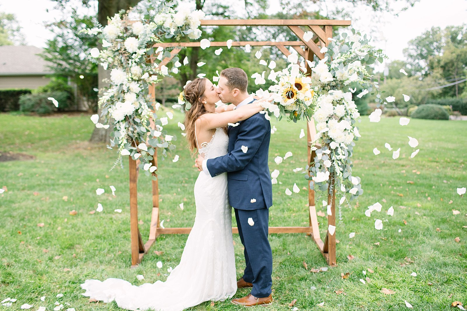 backyard Wedding day photographed by New Jersey and destination wedding photographer Ashley Mac Photographs