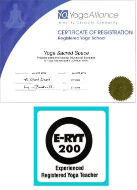 Yoga Alliance Certificate of Registration