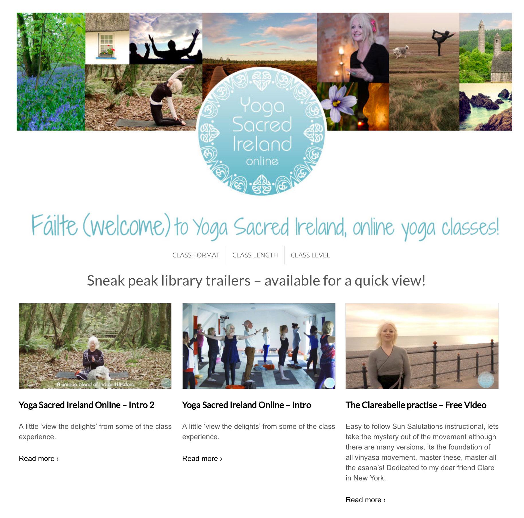 Yoga sacred Ireland Online Website