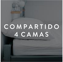 Cuarto compartido 4 camas