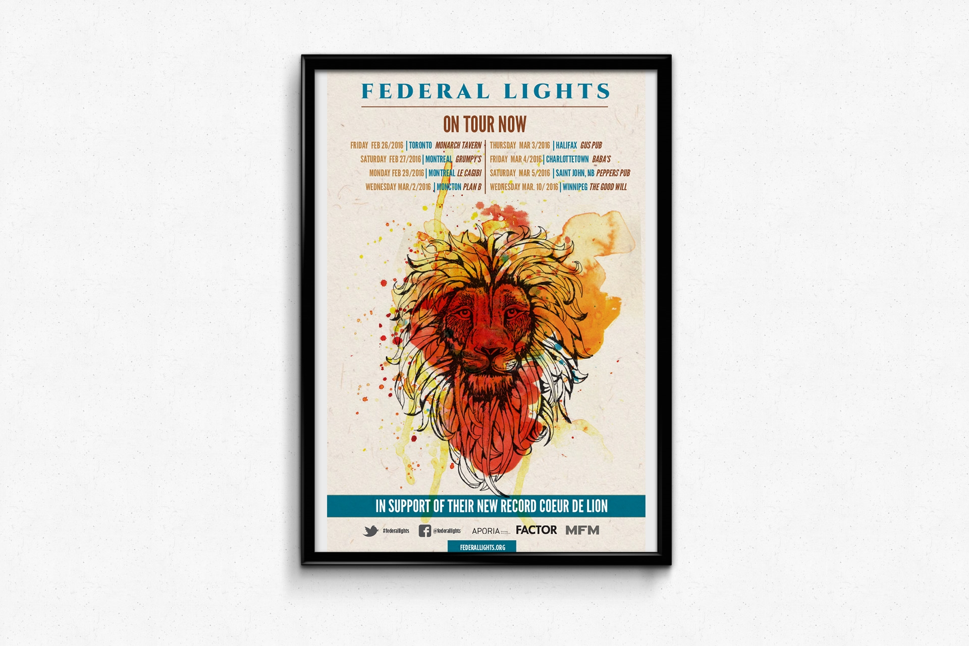 Federal Lights– Coeur de Lion release tour