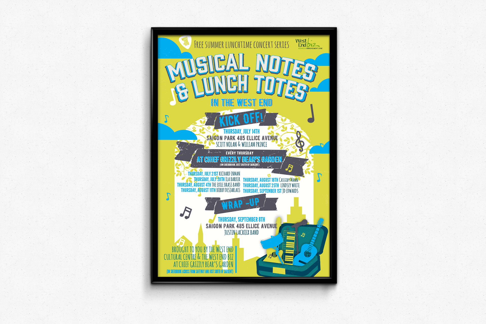 WECC Music Notes and Lunch Totes