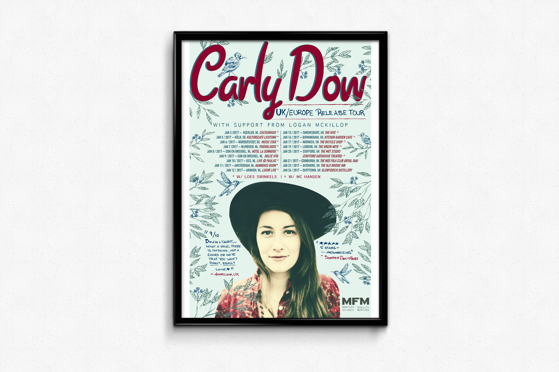 Carly Dow — UK Europe Tour