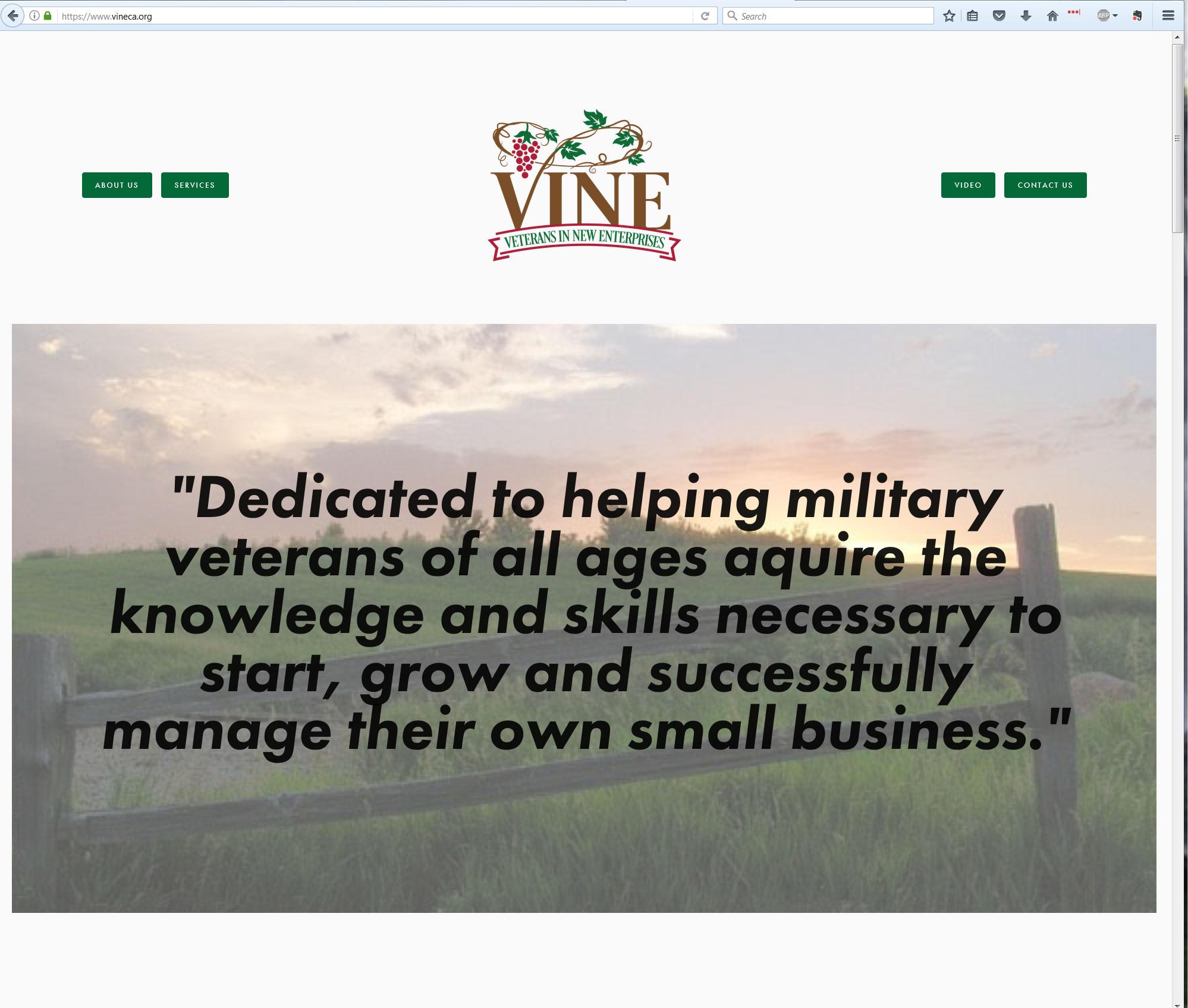 VINE homepage