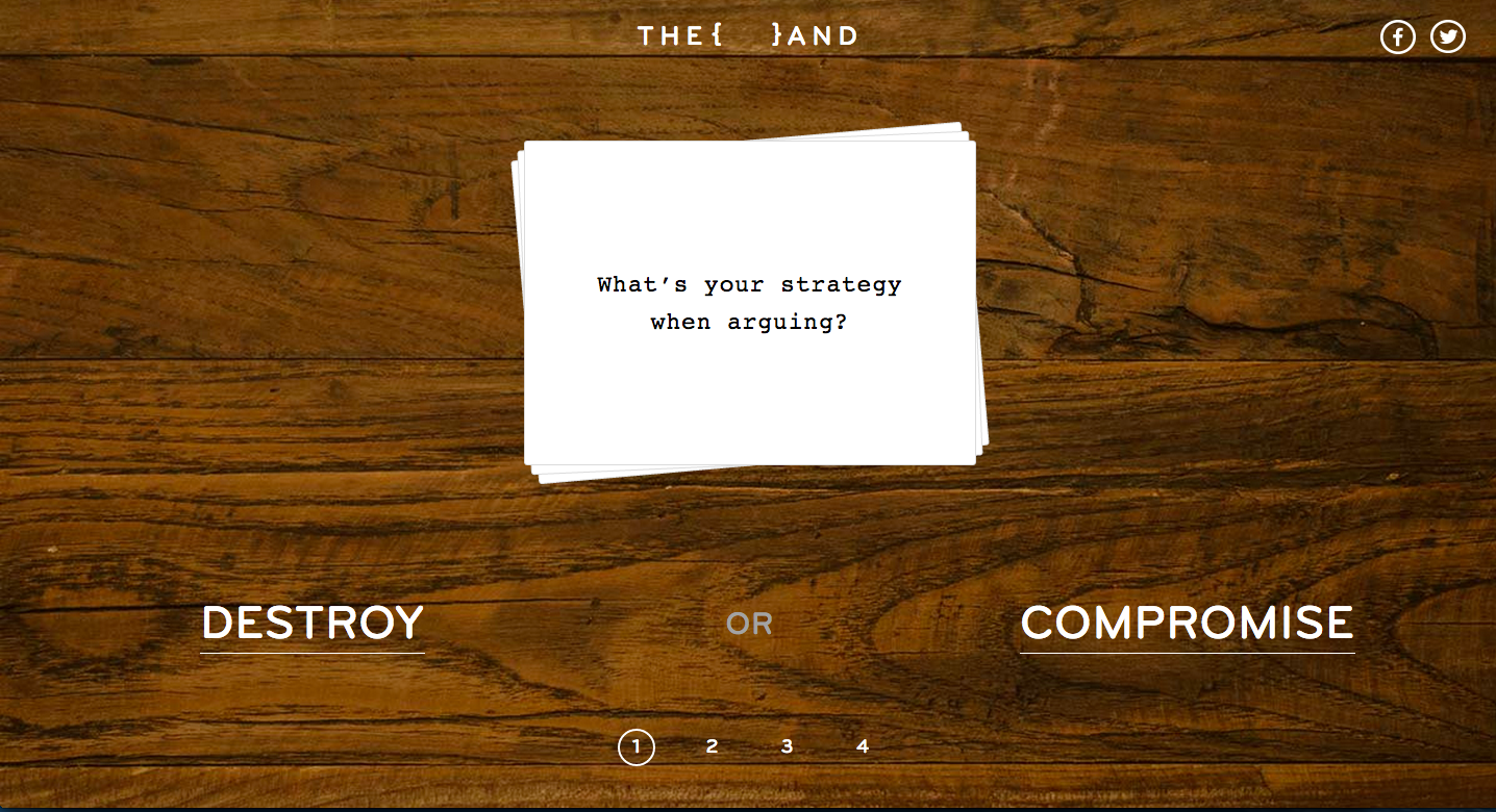 Their answers create a profile, defining what type of partner they are.
