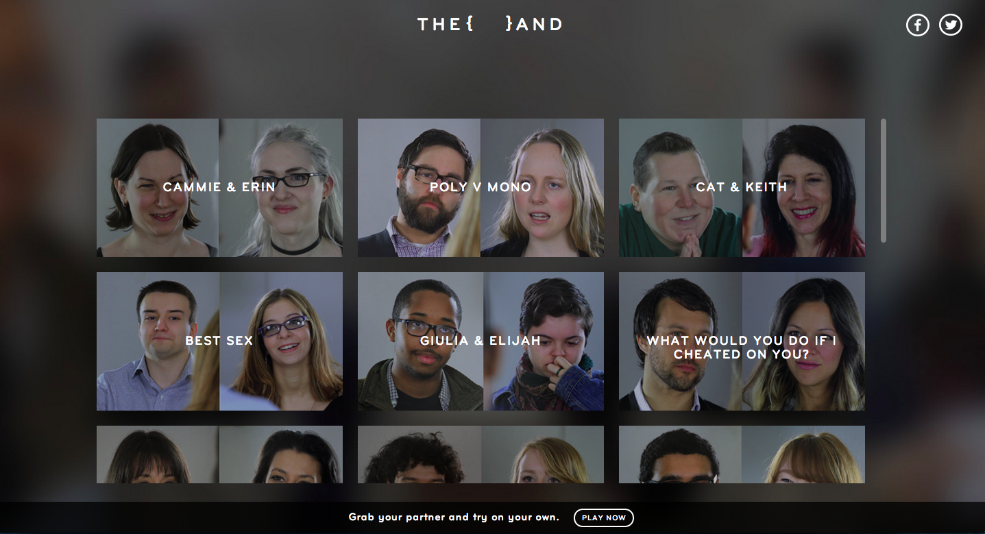 Users can explore other edits focused on couples or issues.