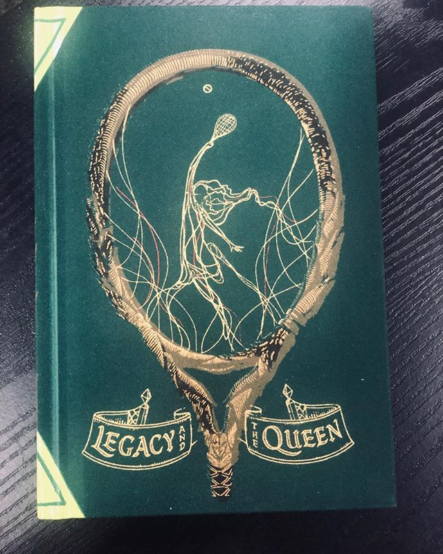 Such a beautiful book cover illustration and creative interpretation of a racket!