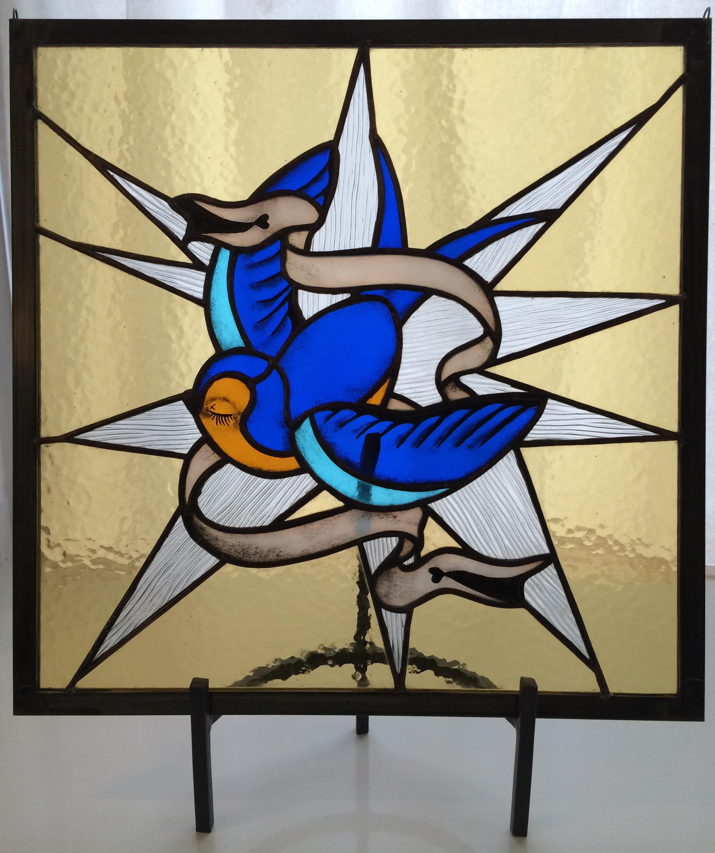 """BLUE BIRD   14"""" Wide x14"""" High $225+ Shipping &Handling"""
