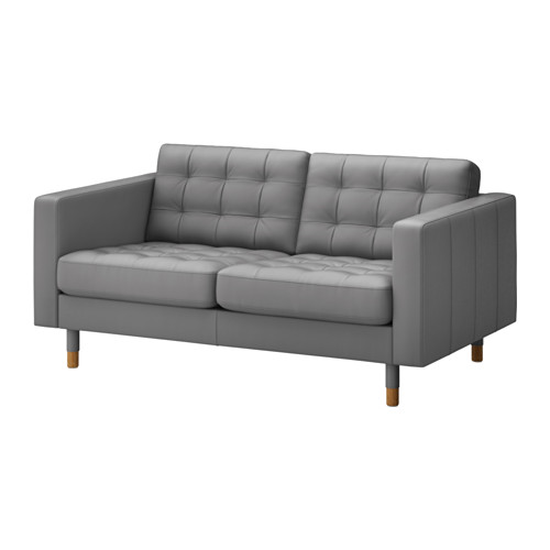 GREY LEATHER LOVESEAT | QTY 4 | $250