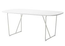 OVAL SQUARE DINING TABLE | QTY 7 | $100