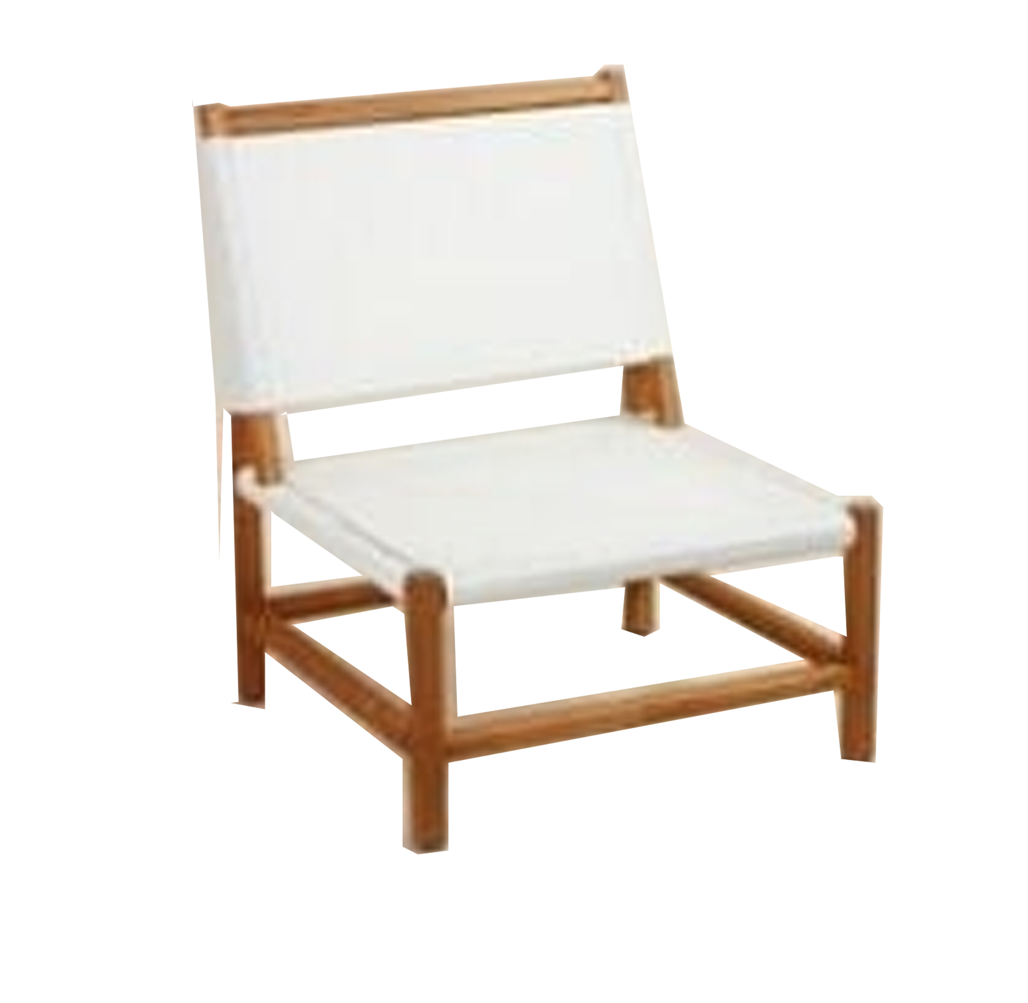 White & Wood Outdoor Chair | $25