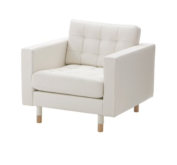 WHITE LEATHER CLUB CHAIR | QTY: 10 | $150