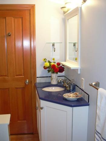 White Blue Bathroom