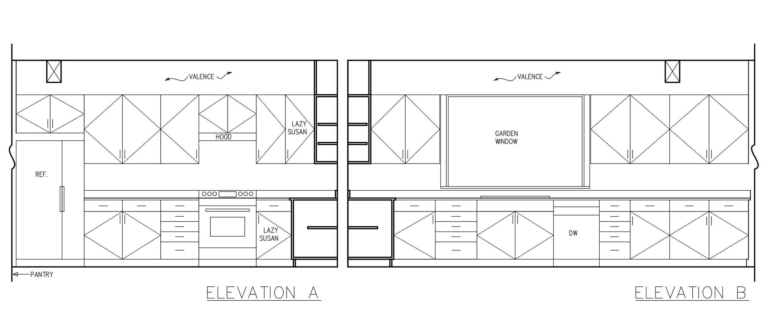 Kitchen Interior Elevations