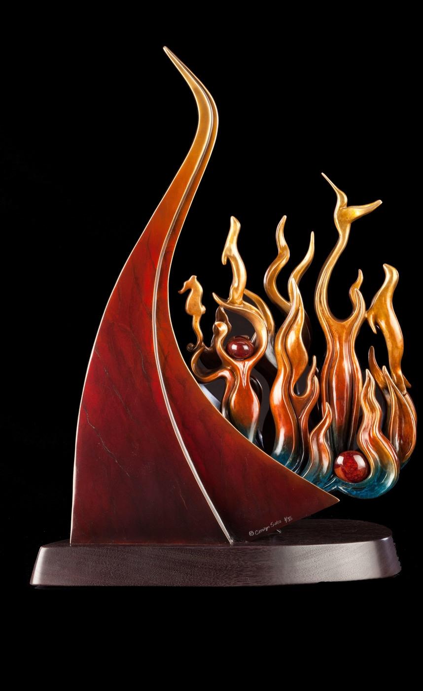"""Firebird Rises (25"""" H x 18"""" W x 9"""" D)"""