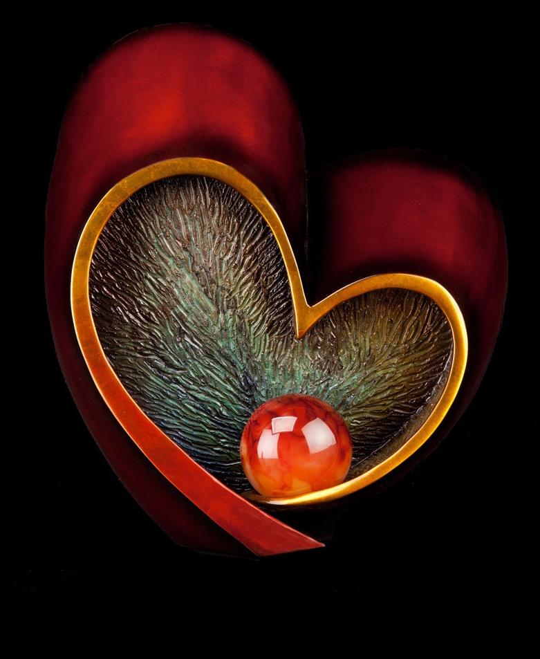 """Follow Your Heart (8"""" H x 7.5"""" W x 9"""" D)"""