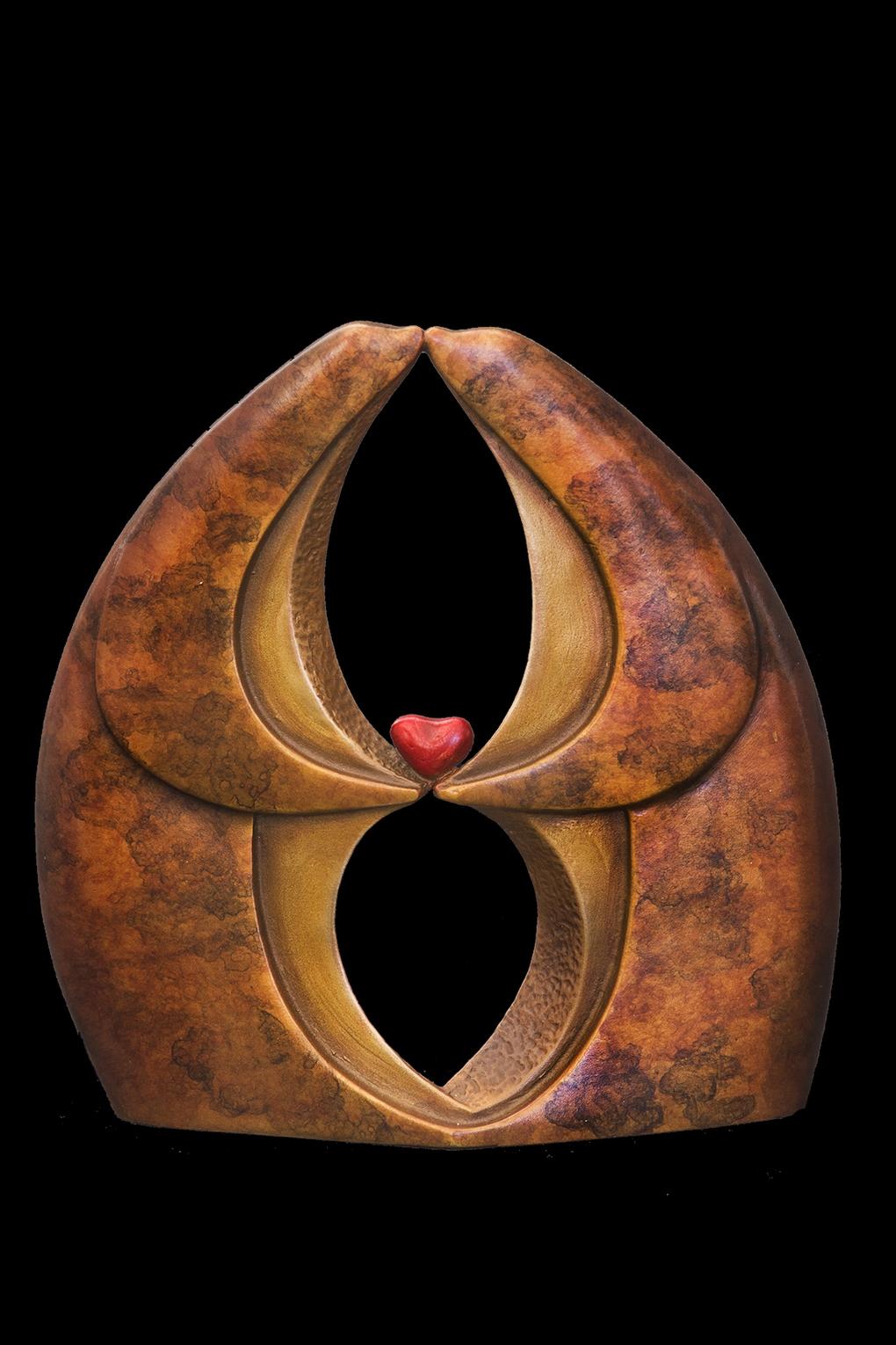 """Infinite Kiss Miniature, Bronze (4.5"""" H x 4.25"""" W x 1.5"""" D) Edition of 85"""