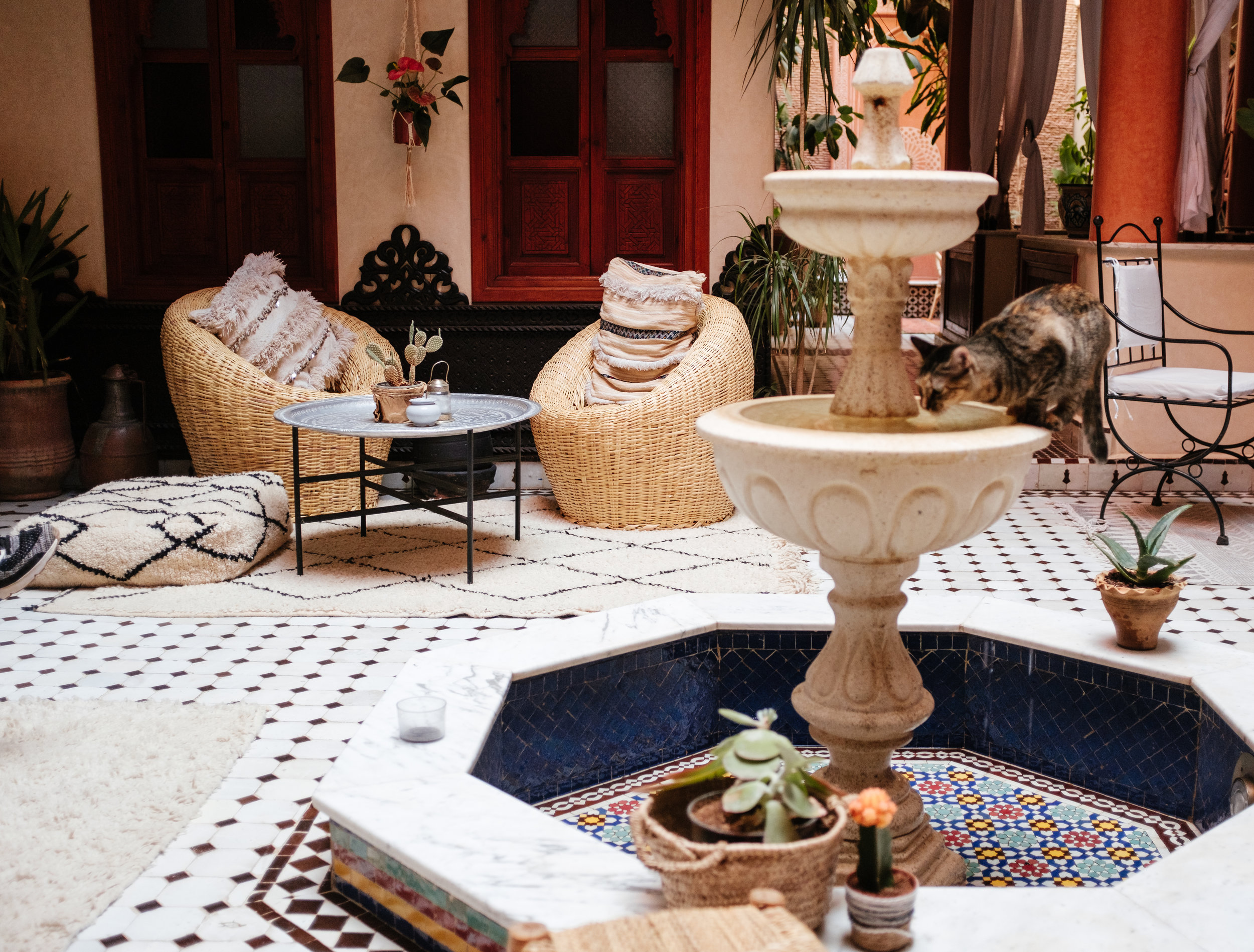Lounging at El Riad