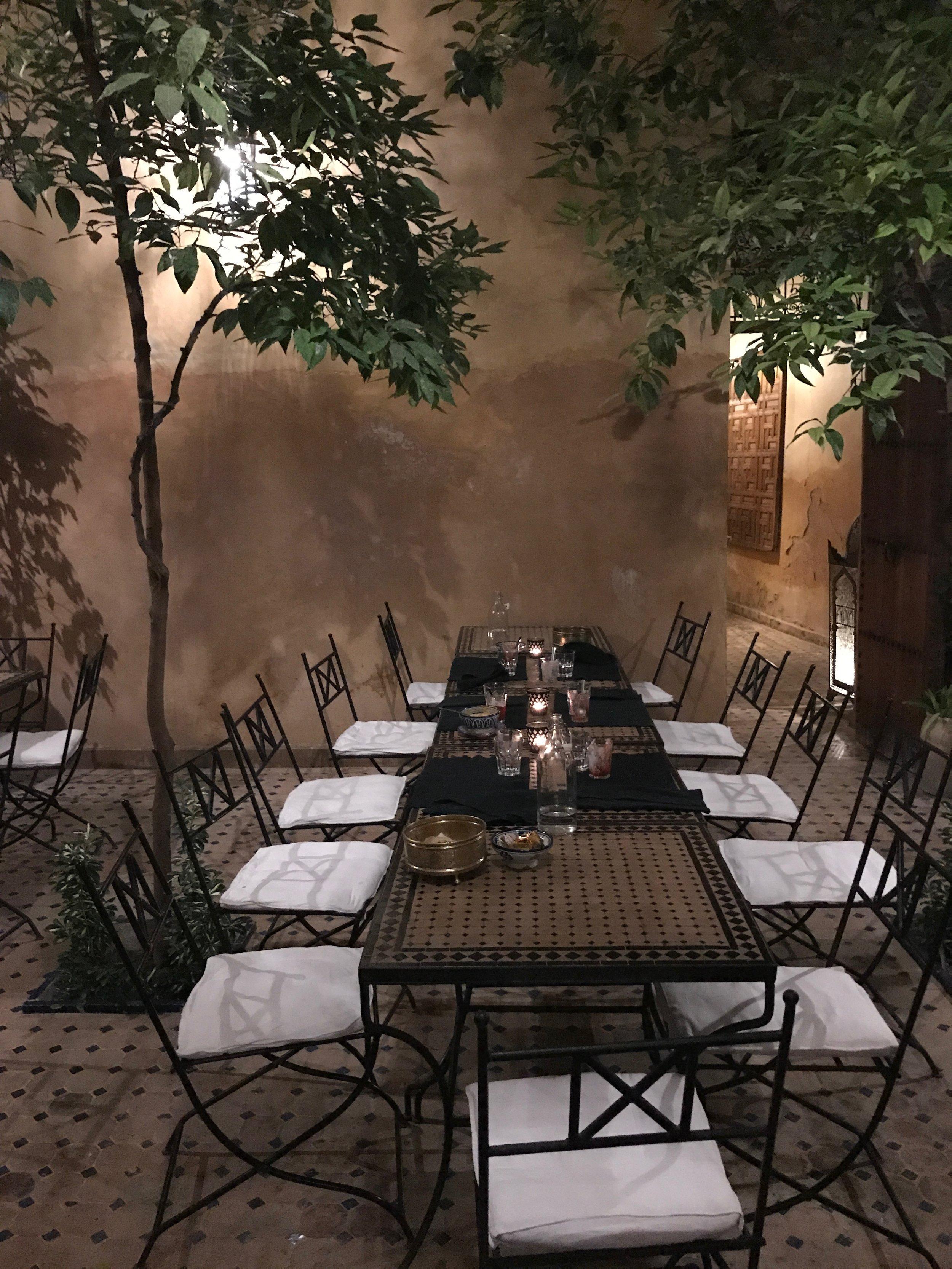 Dinner on the terrace at Dar Saffarine